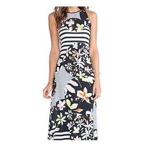 Clover Canyon floral discs stripe maxi dress